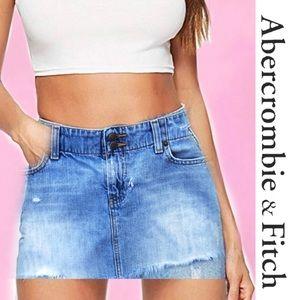 ABERCROMBIE & FITCH Distressed Mini Skirt 6